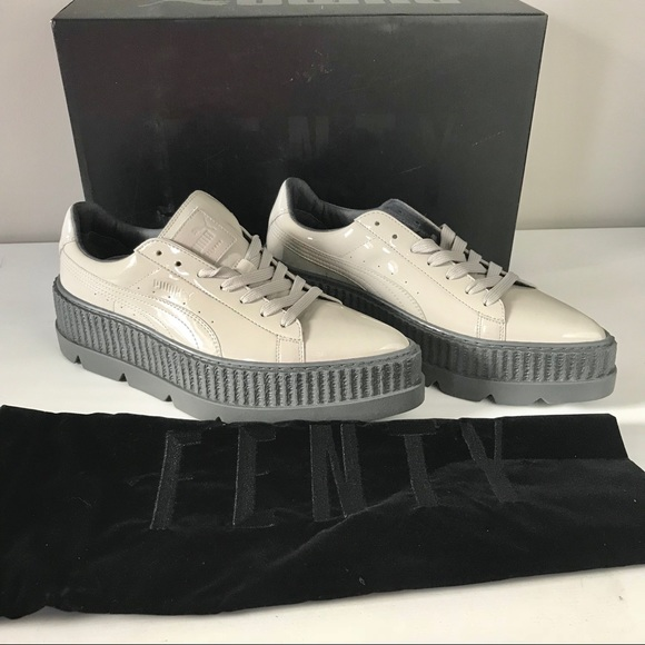 buy popular 5317d dc423 Puma NEW Fenty pointy creeper patent Rihanna gray NWT